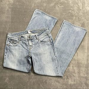 Silver Camille Light Wash Bootcut Jeans!